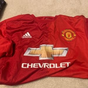 Manchester United Jersey Size Large